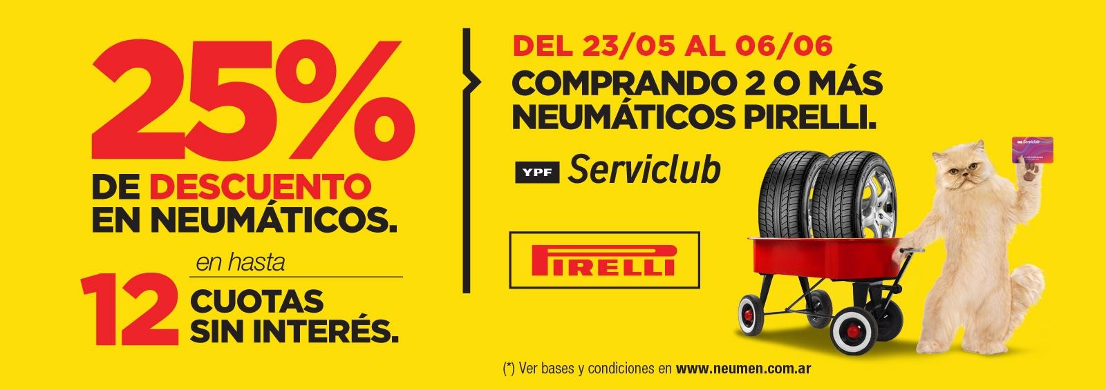 Promo Pirelli - YPF (25%)