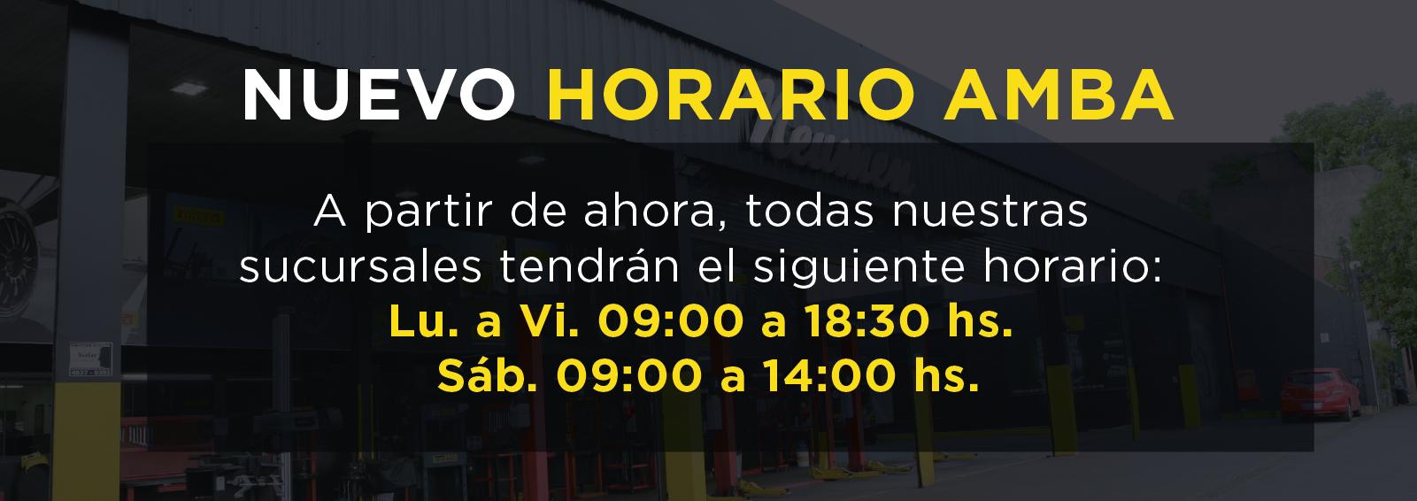 Nuevo Horario 9 a 18.30 hrs