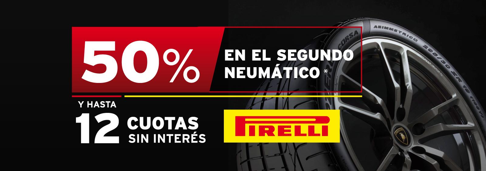 Promo 50% Segundo Neumático