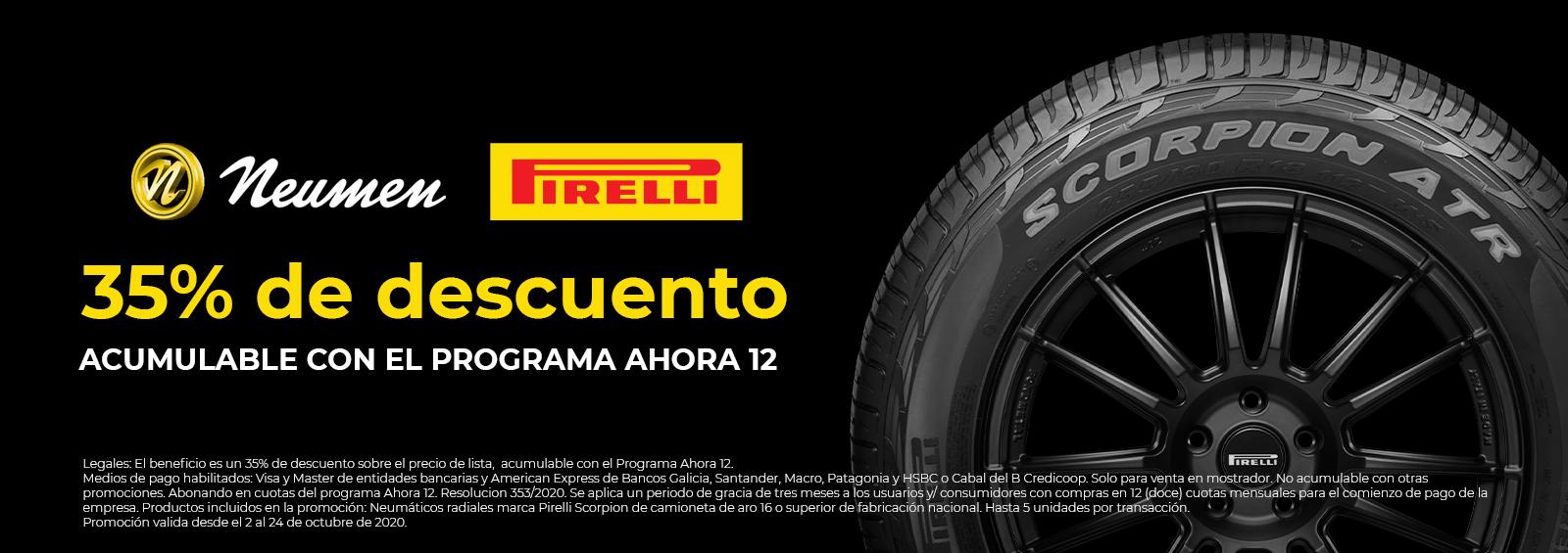 Neumen Pirelli 35%